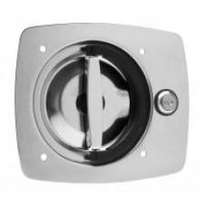 """E9030-SS-R    FLUSH FOLDING """"D"""" RING LOCK 3 POINT STAINLESS STEEL"""